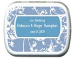 Wedding Blue Delft Personalized Mints