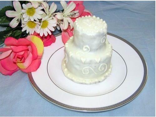 Two Tier Mini Wedding Cake Monogrammed