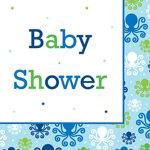 Ocean Preppy Boy Baby Shower Lunch Napkins (pkg/16)