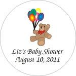 Teddy Bear Round Label (set of 24)