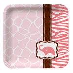 Wild Safari Pink Dessert Plate (pkg/8)