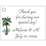 Palm Tree Favor Card