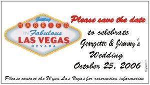 Save the Date Magnets Las Vegas Design