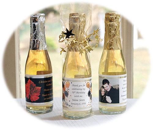 Personalized Mini Wine Bottle Favors