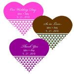 Heart Theme Labels