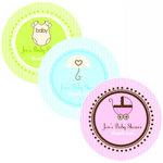 Round Baby Shower Labels