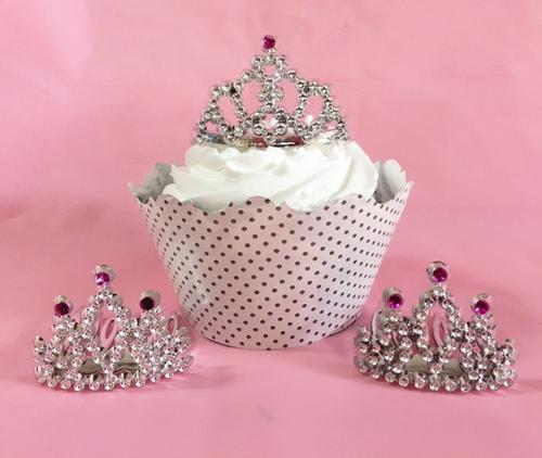Mini Tiara Cupcake Topper Pkg Of 12