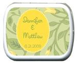 Wedding Yellow Bud Personalized Mints